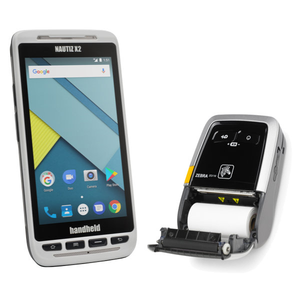 Parkraumsoftware Nautiz X2 Handheld Gerät
