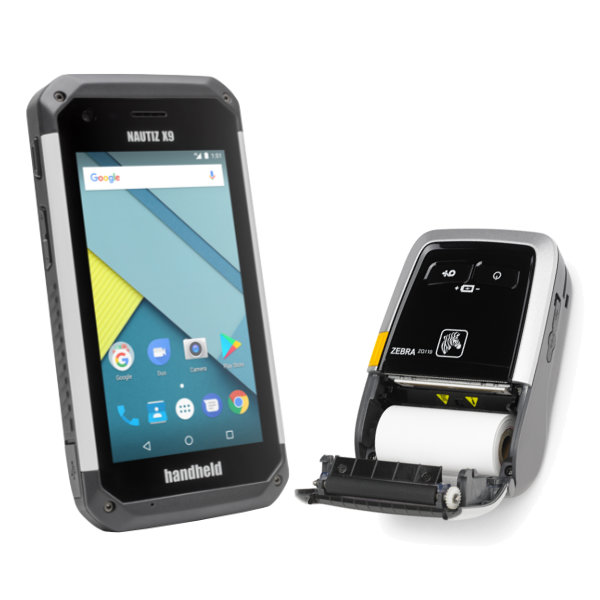 Parkraumsoftware Nautiz X9 Handheld Gerät