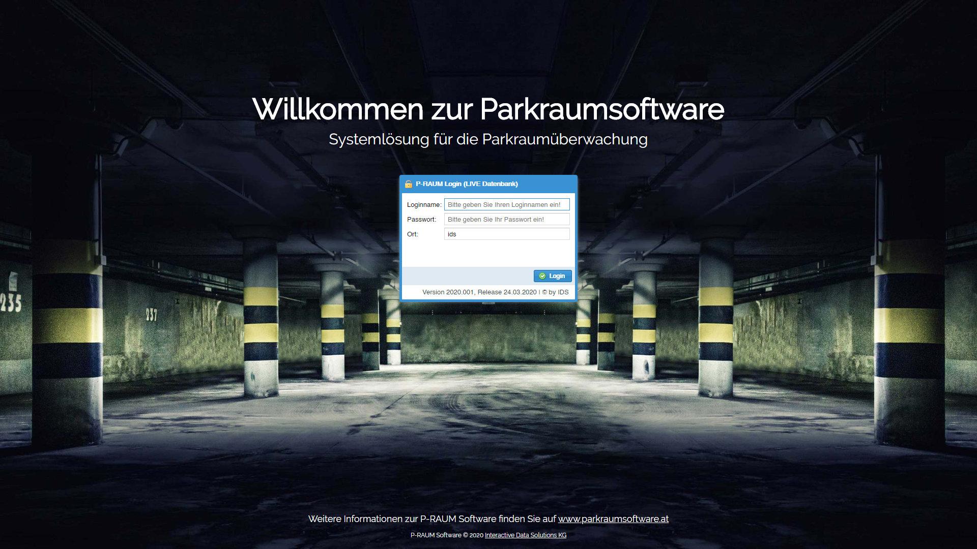 Parkraumsoftware Wilkommen zur Parkraumsoftware